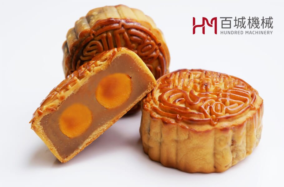 Cantonese Mooncake made by automatic moon cake machine