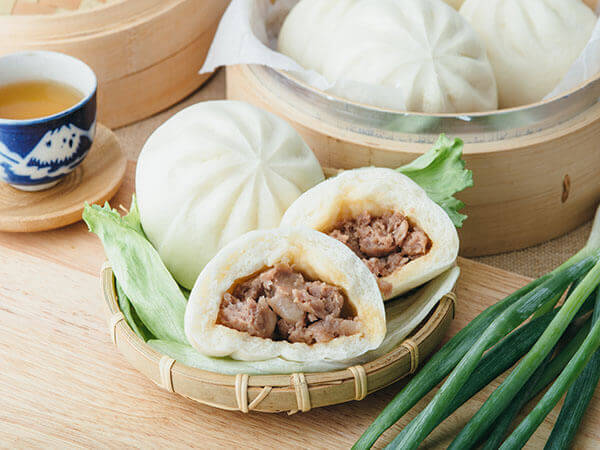 Steamed Meat Bun made by Steamed Meat Bun machine