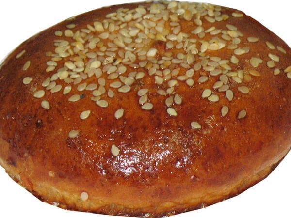 芝麻水果泥麵包